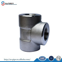 asme b16.11 forged carbon steel lateral reducing tee pipe fitting