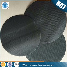 High quality sintered stainless steel metal porous plastic extruder black wire mesh disc filter