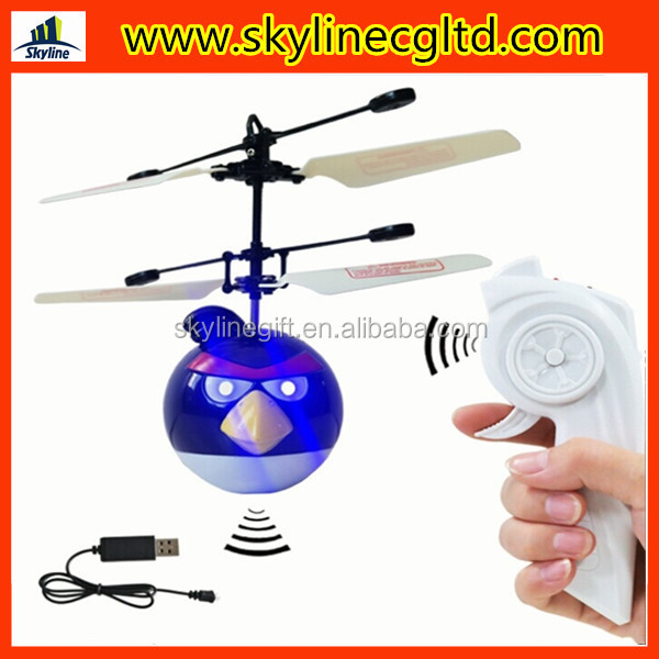 Infrared Induction remote control flying bird toy unmanned helicopter animal toys with eye light