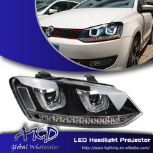 AKD Car Styling VW Polo Headlights New Polo LED Head Lamp Projector Bi Xenon Hid H7