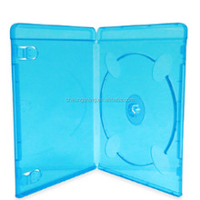 Single Disc 7MM Glossy bule Color Plastic Long DVD Case/dvd box