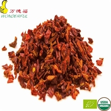dried vegetable organic sweet red bell pepper flakes