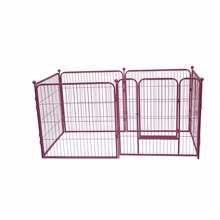 Top selling pink metal pet dog crate wholesale dog runs outdoor