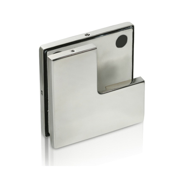 stainless steel glass to glass door patch fitting corner clamp