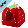 Strawberry shaped colorful pet home dog house