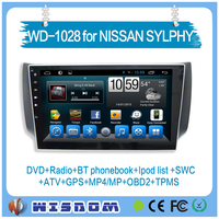 Car dvd player for Nissan Sylphy gps navigation factory 10.1'' android touch screen 2 DIN with DVD,,GPS,Radio,3g/wifi in dash