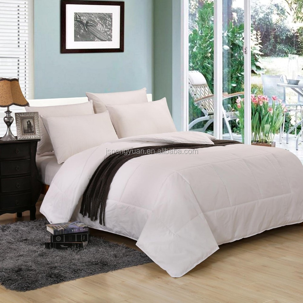 High Quality Super Soft Microfiber Filling Hotel Quilt with 100% cotton cover