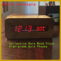 High classic novelty home office table led silkwood digital clock