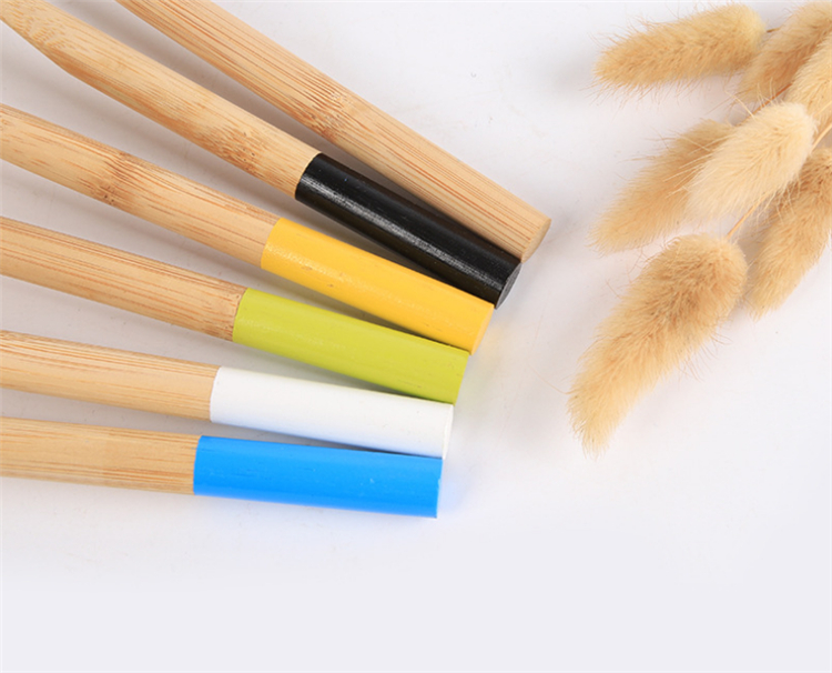 private label 100% biodegradable bamboo toothbrush custom logo