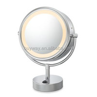 6 inch North America bathroom furniture tri fold lighted makeup mirror