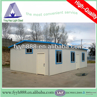 sandwich panel ISO9001 &CE steel frame family prefabricated house living