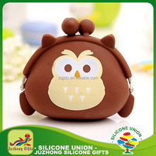 Cartoon Custom Silicone Coin Purse Wallet for change