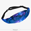 Summer top selling fashion printed galaxy travel waist bag for ladies sport and leisure