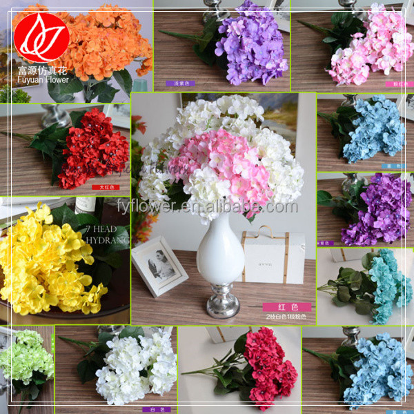 140510 factory customized top sell cheap artificial silk hydrangea flowers for wedding bouquet wholesale artificial flowers