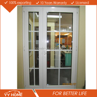 Energy efficent double glass aluminium exterior door with opening window