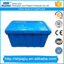 boxes with interlocking lids/nestable plastic storage crate