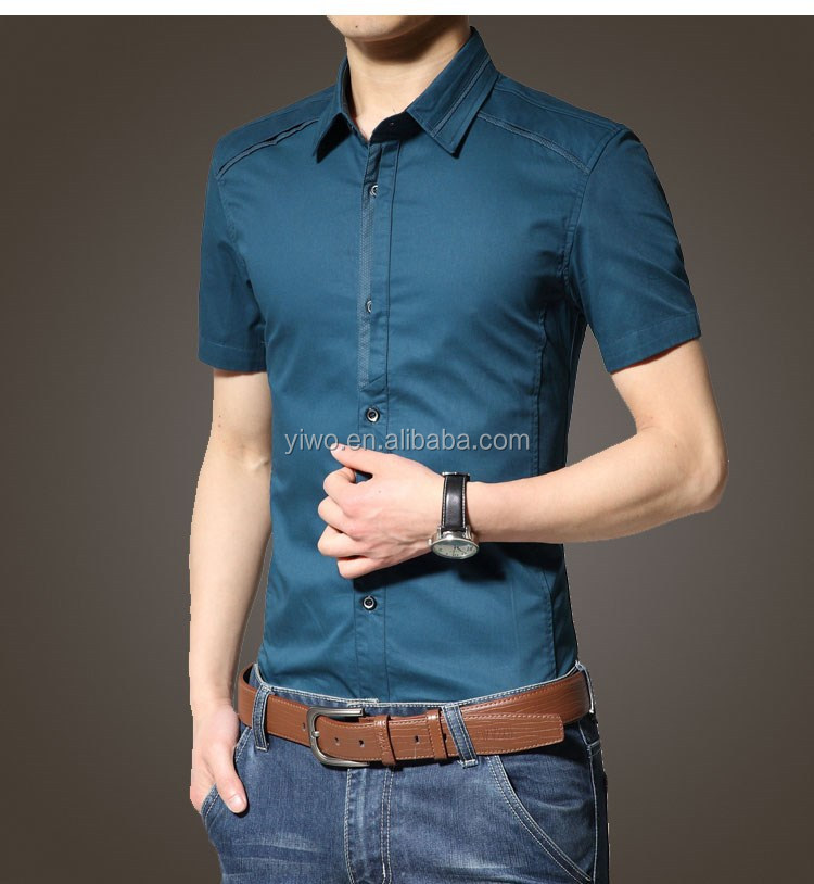 mens short sleeve business dress shirt with tie