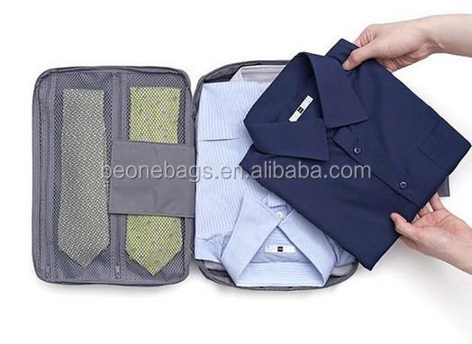 Fashion style small mens travel organizer bag for shirts and ties
