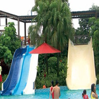 fiberglass water slide water park slides for sale