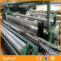 auto power fiberglass mesh grid loom machine