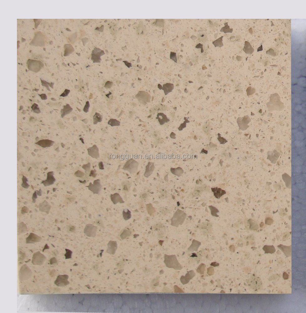 Quartz stone cut to customized counter top for kitchen and bathroom