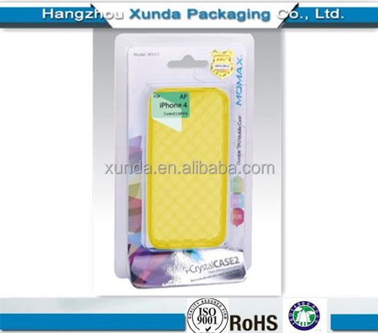 Plastic mobile phone case packaging