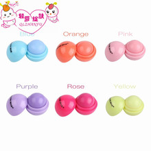 ROMANTIC BEAR Cute Ball Shaped Lip Balm Deep Moisturizing Long Lasting Fruit Flavor Lipbalm Care Lipstick