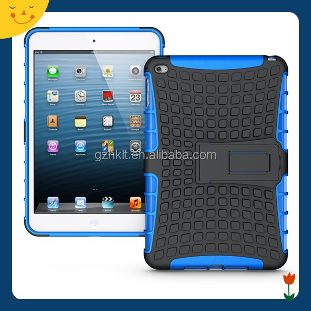 2015China wholesale! TPU+PC armor shockproof kickstand case for Apple ipad mini 4