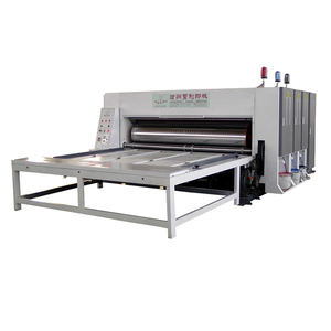 baoyu corrugated carton box making carton machine price , semi-automatic three-color slotting printing machine