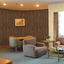wa3070 pvc 3d modern waterproof wallpaper with wood grain design from China film