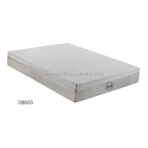 LS665 10 inches Ice Gel Memory Foam Euro Top Pocket Spring Craft Mattress
