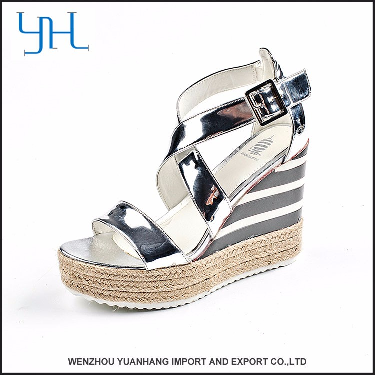 New style comfortable accepted oem popular factory making wedge sandals woman