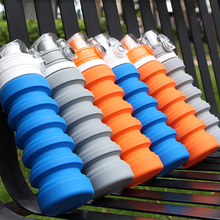 Custom Color Outdoor Travel Sports Silicone Insulated Squeeze Water Bottle