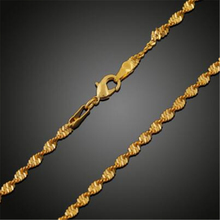 Han edition hot copper double wave chain necklace with 18 k gold sautoir clavicle
