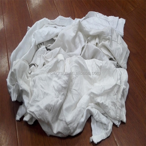 Recycled 100% cotton white cotton cleaning wiping rags