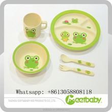 Cartoon Pattern Custom Design and OEM Capabilities Bamboo Fiber Dinner Sets For Baby Kids