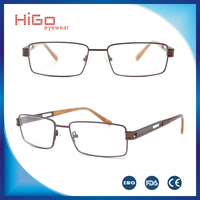 2016 Popular metal optical frame Italy designer prescription glasses manufacture in China