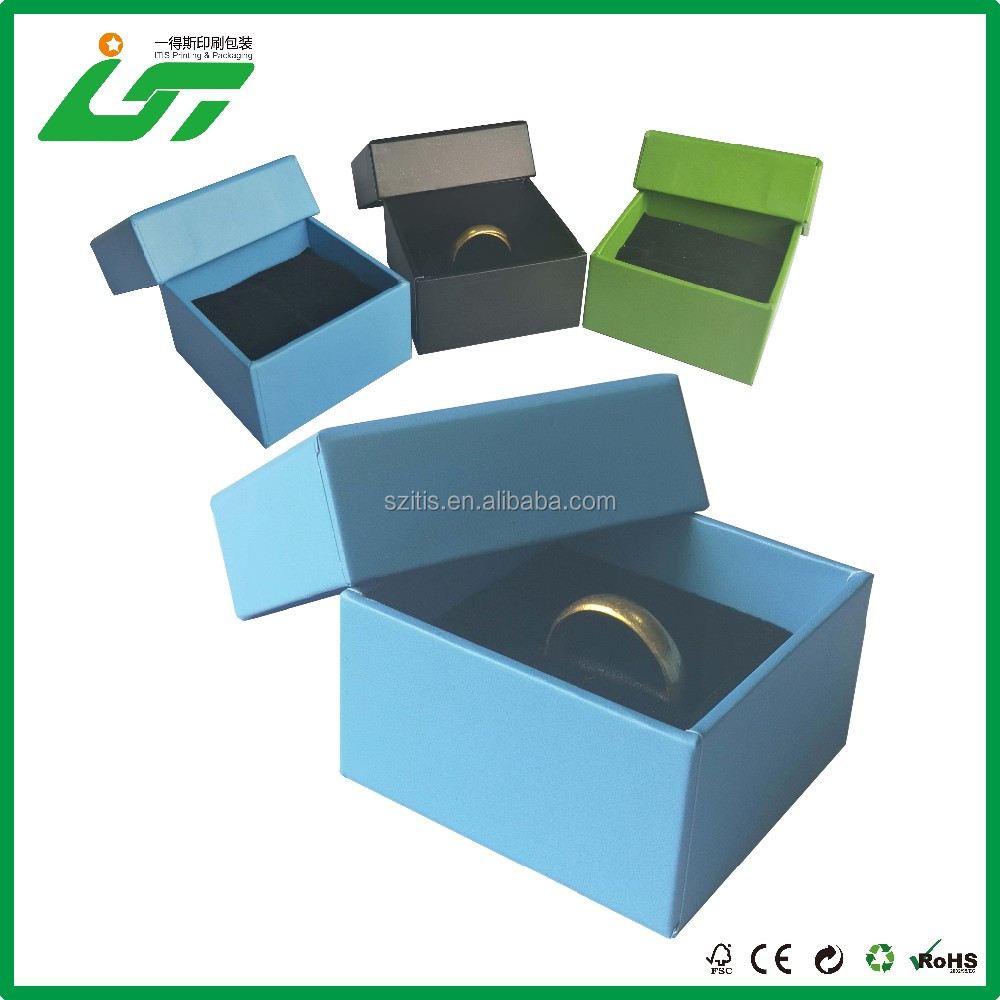 BEST SALE Luxury Lid And Base Design plain jewelry box with stamping logo