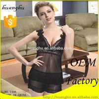 Manufacturer classic wholesale open bust mature sexy babydoll lingerie