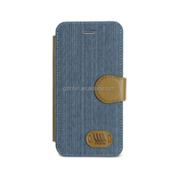 Flip powerful magnet cell phone leather cover for iphone