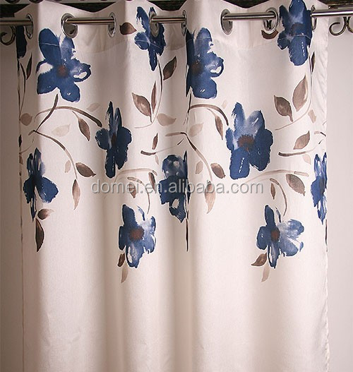 100% polyester shiny printed slub curtain fabric