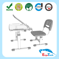 Ergonomic Metal and Plastic Kids Healthy Study Table and Chair