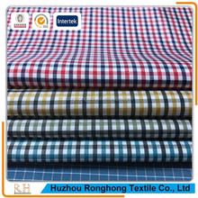 Yarn dyed fabric plaid fabric 100% polyester fabric can be used for shirt, bathrobe, skirt