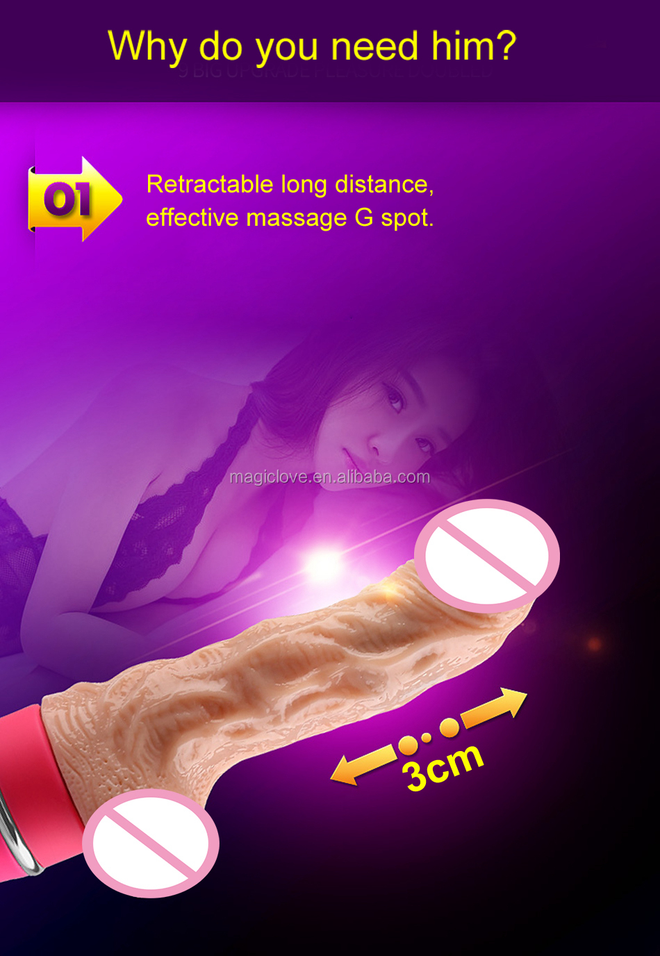 9.17 Inch Real Big Size Huge Sex Toy Artificial Penis Dildo for Woman