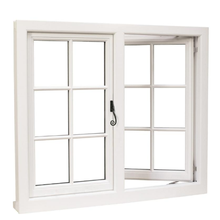 2019 New Double Swing Openning Style UPVC Windows Grill <strong>PVC</strong> Window