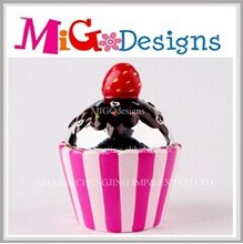 wholesale ceramic cupcake mini atm coin bank