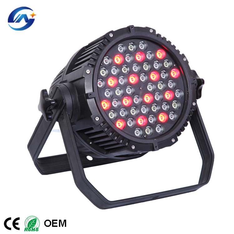 IP65 outdoor RGBW DMX512 led 54 3W waterproof event par stage light