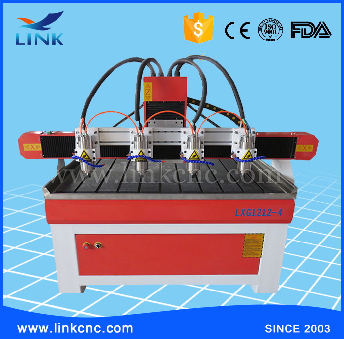 3D wood carving cnc router machine for Wood processing center/aluminium cnc router 1212 with 4 cutting heads