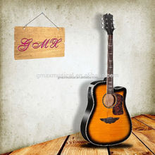 41 inch china factory price unusual unique design electric acoustic guitar