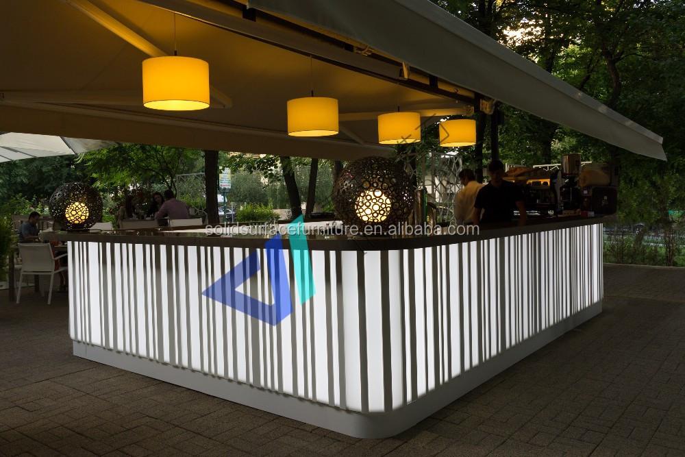 modern design outdoor portable bar restaurant cashier bar